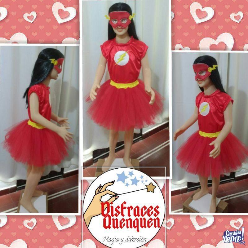Disfraz de Flash para niñas