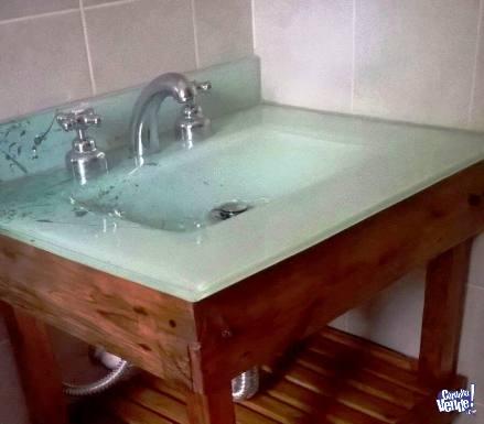 Bachas Cuadradas De Vidrio Termoformado Con Mesada para bañ