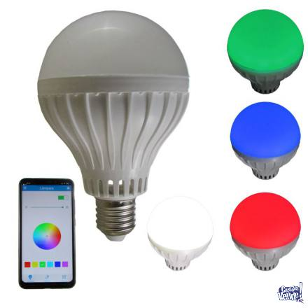 Lampara Led RGB Parlante Bluetooth App Celular Android Ios