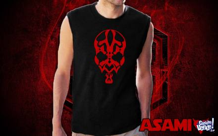 Musculosa Negra con Estampa Darth Maul