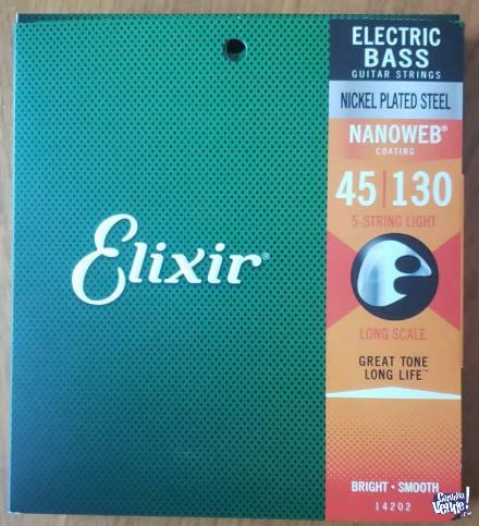 Cuerdas Elixir p/Bajo 5 Cuerdas Light 045/130 en Argentina Vende