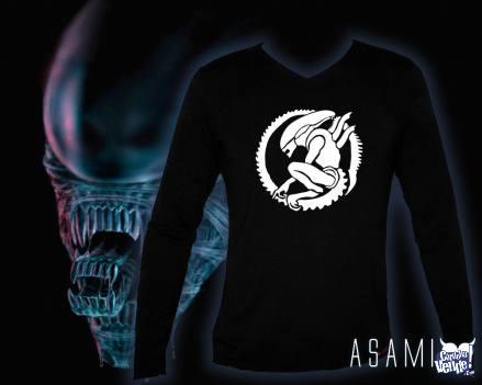 Camiseta Negra con Estampa Alien