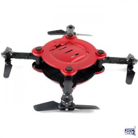 DRONE PLEGABLE WIFI, CAMARA CON SOPORTE Y FUNDA