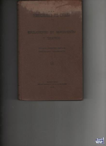 REGLAMENTO DE FERROCARRILES y otros 2 libros afines USS 40