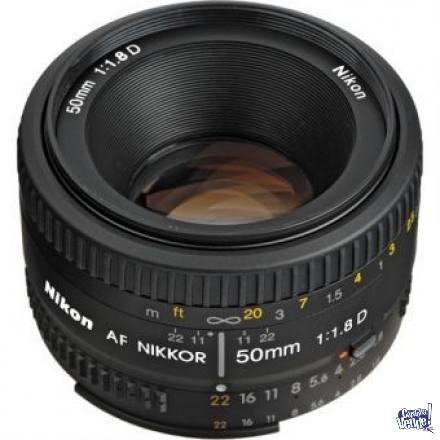 Lente Nikon Rápido Af 50mm F/1.8d garantia local comercial