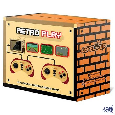 Consola Portátil Retro Play 60 Juegos 2 Joystick Family