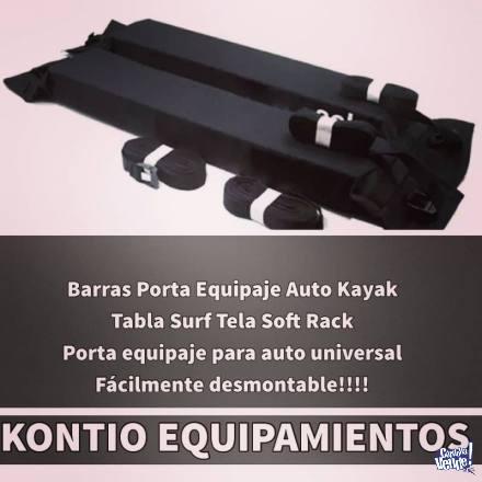 Barras Porta Equipaje Auto Kayak Tabla Surf Tela Soft Ra