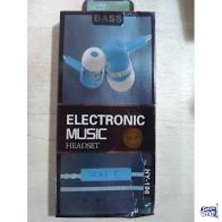 Auriculares Electronic Music Hy-196 In Ear Extra Bass en Argentina Vende