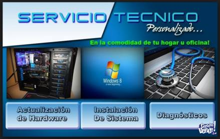 SERVICIO TÉCNICO ESPECIALIZADO EN NOTEBOOKS Y PC