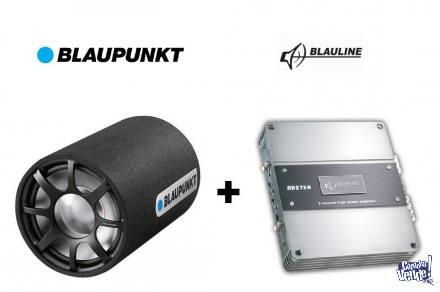 Combo Blaupunkt & Blauline bazooka y potencia $4500 Oferta!!