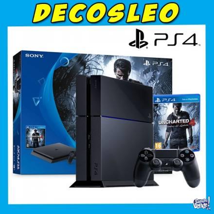 Playstation 4 500 Gb  NUEVAS EN CAJA CON JUEGOS