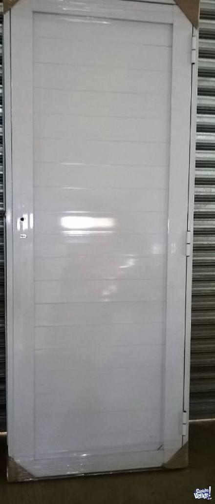 Puerta aluminio 0,80 x 2,00, reforzada ciega en Argentina Vende