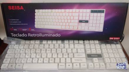 Teclado Retroiluminado Usb Para Pc Computadora Luces Colore