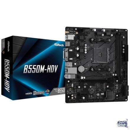 Motherboard ASRock B550M-HDV - Socket AM4 - Para AMD