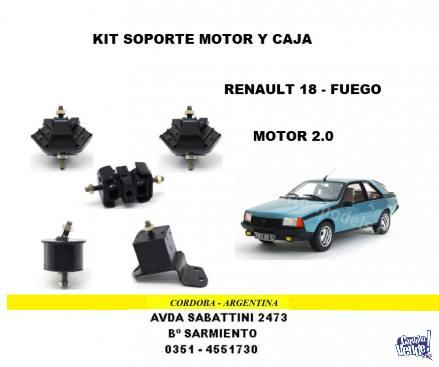 SOPORTE MOTOR Y CAJA RENAULT 18 - FUEGO 2.0