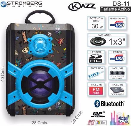 Multireproductor Portatil Kazz Ds-11 Bluetooth Usb Aux 30w