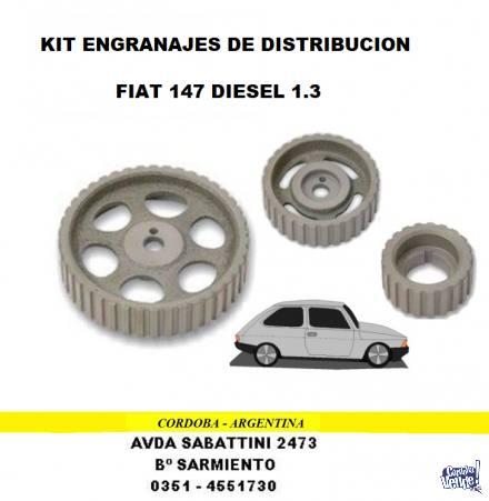 ENGRANAJE DISTRIBUCION FIAT 147 DIESEL 1.3