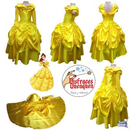 Vestido de Princesa Bella para niña