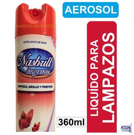 pack x12 liquidos lampazos nasbrill limpieza aerosol