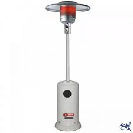 Calefactor Exterior Hongo Cabezal Acero Inox P/ Gas Garrafa