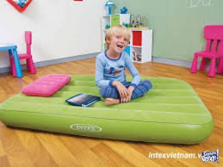 COLCHON INFLABLE+ALMOHADA INFANTIL INTEX 88x157x18cm