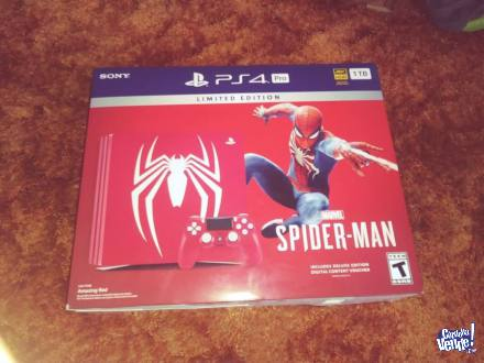 Sony Playstation Ps4 Pro 1tb Spider-red Edição Limitada en Argentina Vende