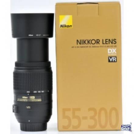 NIKON AF-S 55-300MM F/4-5.6G VR ORIGINALES LOCAL A LA CALLE!