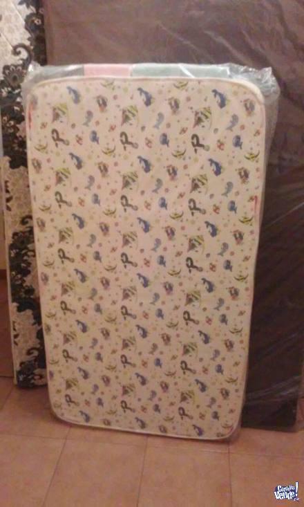 Colchón Infantil De Cuna 130x60x10 Marca Taurus Espuma