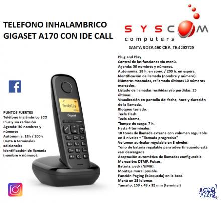 TELEFONO INHALAMBRICO GIGASET A170 CON IDECALL  NUEVOS