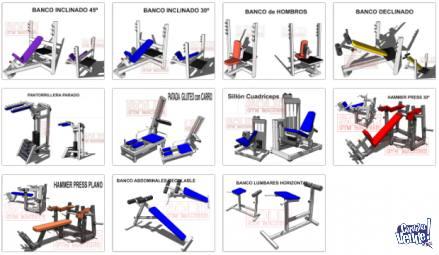 Gym, Puedes Fabricar hasta 23 planos de Maquinas de Gimnasio en Argentina Vende