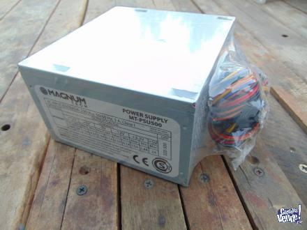 fuente atx magnuntech 500w nuevo con cable power incluido en Argentina Vende