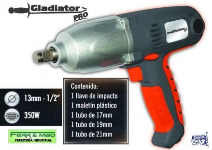 LLAVE DE IMPACTO ELECTRICA GLADIATOR PRO LI712 K-350W EN KIT