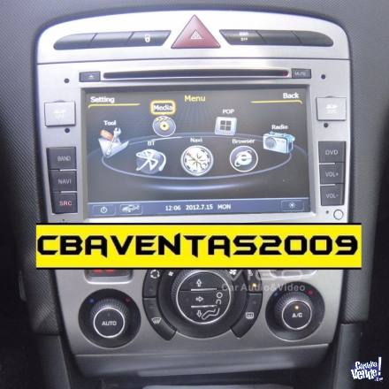 Stereo CENTRAL MULTIMEDIA Peugeot 308 408 Gps Andr Bluetooth