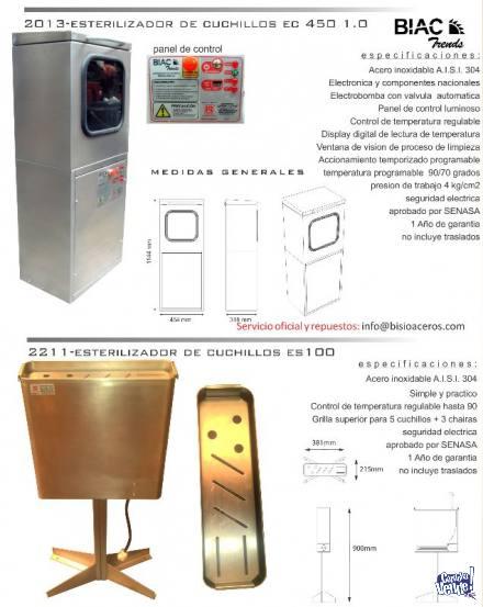 Esterilizador De Cuchillos Acero Inoxidable 304 E.s. 100