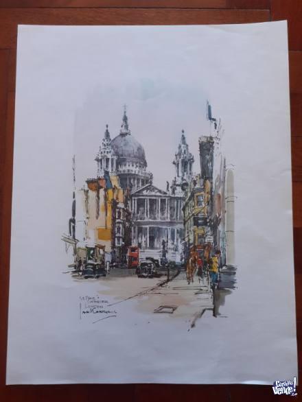 Acuarela de Jan Korthals St Paul's Cathedral en Argentina Vende
