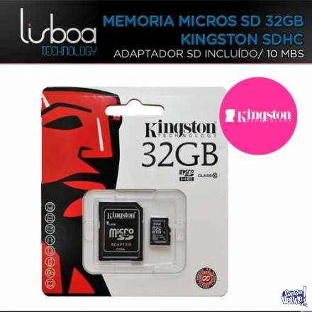 Memoria Micro Sd 32gb + Adapt. Sd Clase 10 Kingston ¡CENTRO