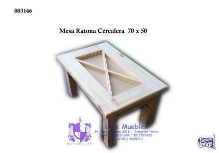 Mesa Ratona Cerealera 70x50 (Sin Vidrios)
