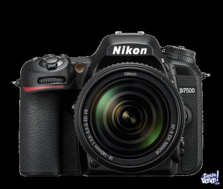 NIKON D7500 KIT 18-140MM VR 21MPX VIDEO 4K BT LOCAL A CALLE!