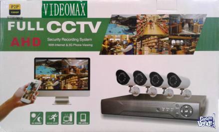 KIT DE 4 CAMARAS FULL HD 1080 completo DVR + CABLES TODO !! en Argentina Vende