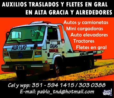 AUXILIO MECANICO TRASLADOS Y FLETES EN GENERAL en Argentina Vende