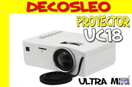 Mini Proyector Led Uc18 Unico Full Hdmi 60 Pulgadas ** Decos en Argentina Vende