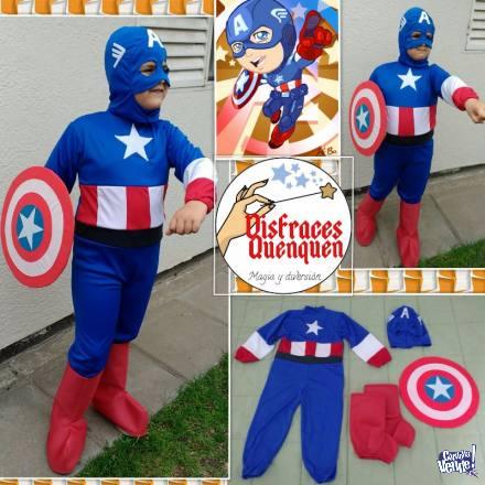 Disfraz de Capitán América para ni