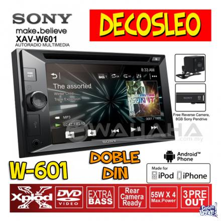 Estereo Pantalla Sony Xav-w601 Dvd Touch 62 2 Din Audio Car