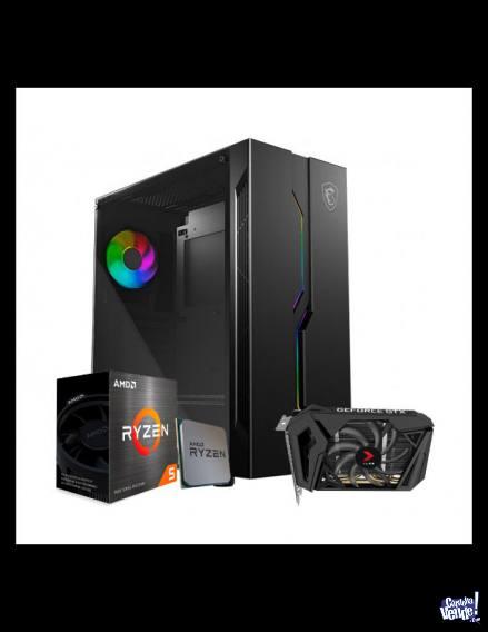 Computadora Gamer Full! con monitor tec, mouse, auri y ups