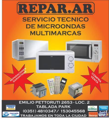 reparación de microondas