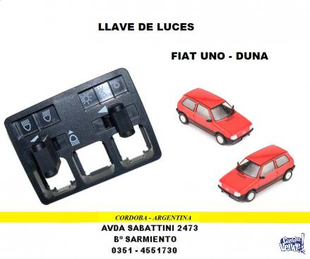 LLAVE DE LUCES FIAT UNO - DUNA