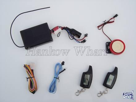 Alarma Para Moto Con 2 Llaveros Lcd Bidireccionales