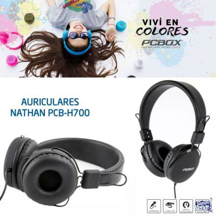 Auricular Pcbox Pcb-h700 Nathan Con Microfono Negros