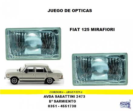 OPTICA FIAT 125 MIRAFIORI