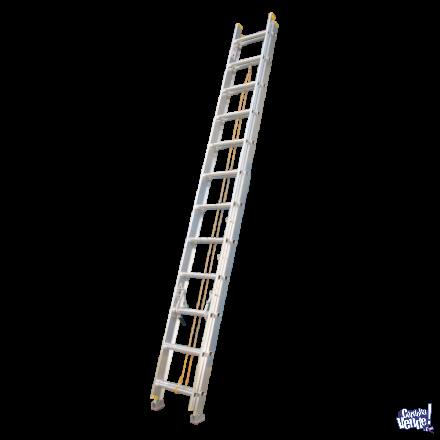 Escalera de aluminio extensible 24 peldaños 6,40 mts SCALA
